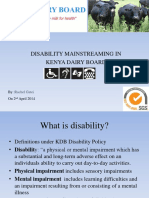 Disability Mainstreaming Presentation