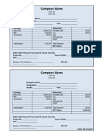 Salary Slip Template