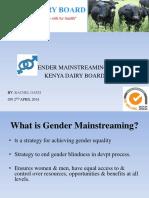 Gender Mainstreaming Presentation April 2014