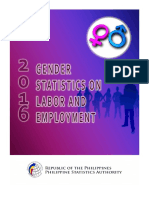 2016 Gender Statistics on Labor and Employment