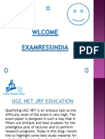 Latest information about Ugc Net Jrf Exam