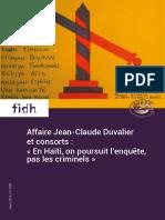 Les complices de Jean-Claude Duvalier doivent enfin répondre de leurs crimes devant une cour de justice haïtienne