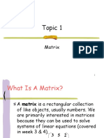 Topic 1 Matrix Edited