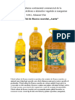 Studierea sortimentul comercial de la producatorii autohtoni a uleiurilor vegetale si margarinei