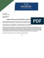 Horne Press Release 9 14