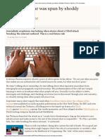 How a Cyberwar Was Spun by Shoddy Journalism _ Heather Brooke _ Opinion _ the Guardian