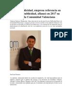 Sercom Publicidad, Empresa Referencia en Reparto de Publicidad, Afianzó en 2017 Su Posición en La Comunidad Valenciana