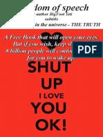Freedom of Speech by Author BigFoot Yeti