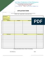 Affiliation Form