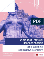 Women's Political Representation and Existing Legislative Barriers