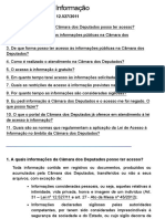 Lei de Acesso à Informação — Portal Da Câmara Dos Deputados