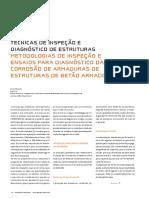 METODOLOGIAS DE INSPECÇÃO E ENSAIOS PARA DIAGNÓSTICO DA CORROSÃO DE ARMADURAS DE ESTRUTURAS DE BETÃO ARMADO