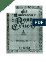 AMORC-The American Rosae Crucis 19 Octubre 1917 Completo Traducido Al Español