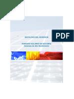 Decálogo Del Inversor. Parques Solares de Navarra Sistemas de Alto Rendimiento