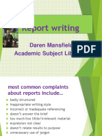 Report Writing 2018