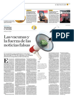 Las Vacunas y La Fuerza de Las Noticias Falsas