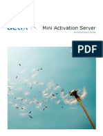 Actix Mini Activation Server Admin Guide