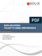 Database Archiving the Key to Siebel Performance