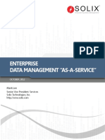 Enterprise Data Management as a Service
