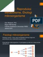 Fisiologi, Metabolisme, Reproduksi, Ekologi (New)