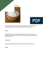 Bicarbonat de Sodiu Tratamente