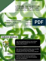 Skrining Fitokimia Dan Uji Aktivitas Antioksidan Senyawa Aktif Pada Temulawak (Curcuma Xanthorrhiza Roxb.)