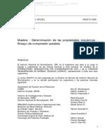 NCh 973 Of1986 Madera-Determinación de Las Propiedades Mecánicas-Ensayo de Compresión Paralela