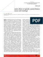 Can Central Antiemetic Effects of Opioids Counter-balance