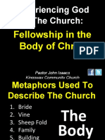 08-22-2010 Experiencing God in the Church-The Body-Fellowship