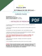 [EPFO] Cartão Resposta Mód. II - Polícia DPH 2018