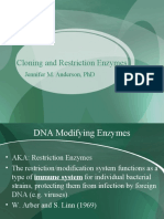 Cloning and Restriction Enzymes