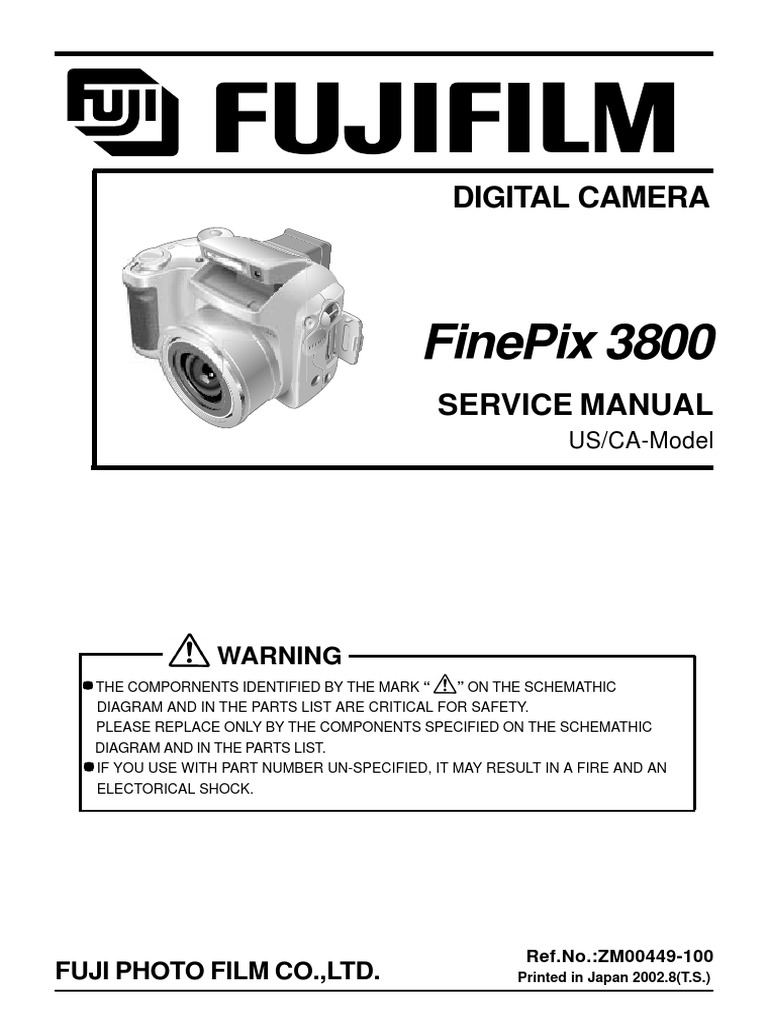 fujifilm finepix s3800 service manual digital camera camera rh scribd com fujinon endoscopy service manual fujinon endoscopy service manual