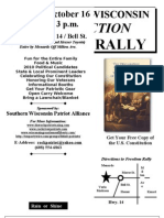 Wisconsin Carry Freedom Rally Flier