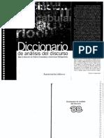 Charaudeau, Patrick y Maingueneau, Dominique - Diccionario de Análisis Del Discurso