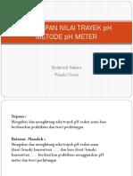 Penetapan Nilai Trayek Ph Metode Ph Meter
