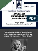 Mesa Redonda Etica Pesquisa e Publicacoesmaria Vargas