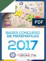 Bases Concurso Matematicas 2017