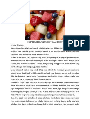 355014666 Proposal Usaha Salad Buah