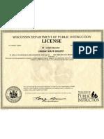 Wisconsin DPI License
