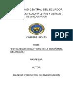 Estrategias Didácticas de La Enseñanza Del Inglés