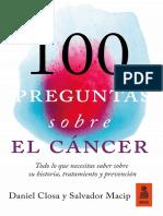 «100 preguntas sobre el cáncer», Daniel Closa y Salvador Macip
