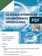 Tema 5 La Escala Atómica de Los Materiales Moleculares-PTM