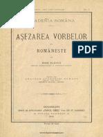 Așezarea vorbelor în românește - Ion Slavici.pdf