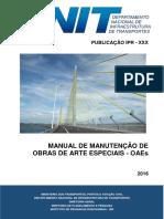 DNIT Manual de Manutencao Obras de Arte Especiais