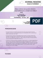 Influenza-like Illness Criteria Were Poorly Related to Laboratory