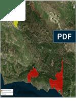 March 20, 2018 Temporary Evacuation Map for Santa Barbara County areas