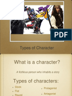 type of character - lesson