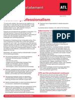 Teacher Professionalism - April 2012