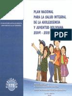 Plan Nacional Para La Salud Integral de La Adolescencia 2019 - 2013
