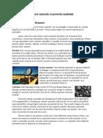 Resurse Naturale Ale Romaniei. Protectia Mediului